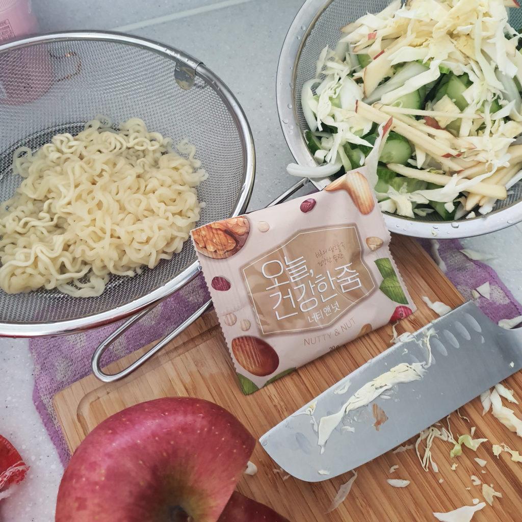 Korean salad ingredients
