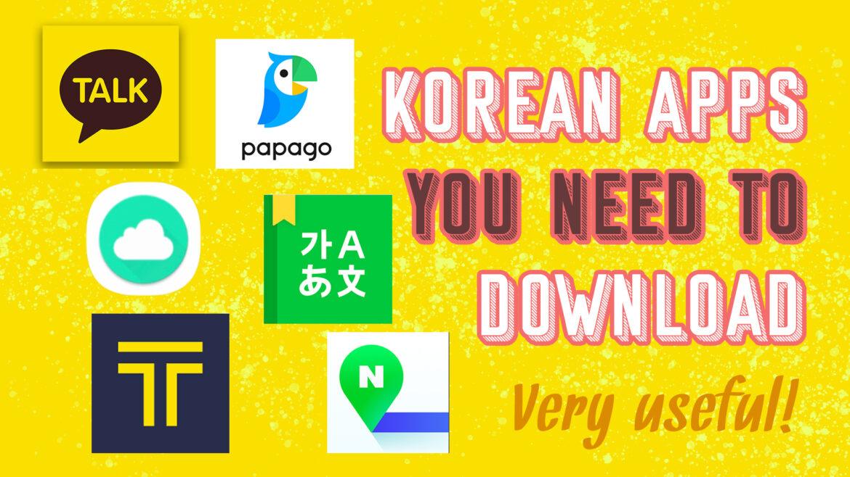 korean apps you need